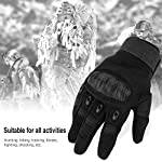 Nasharia Gants Tactiques Renforcés Ecran Tactile Respirable pour Auto Moto, Vélo, Motocross, Combat, Camping,Randonné… 10