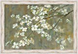 Canvas Art Framed 'Dogwood in Spring' by Danhui Nai