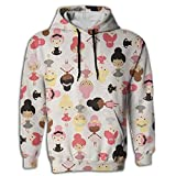 Men's Hoodie Tall Tops Shirt Coat With Cap Ballet Dance Girl Hipster