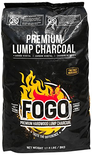 FOGO 17.6-POUND PREMIUM HARDWOOD LUMP CHARCOAL BLACK - Light Bbq Charcoal
