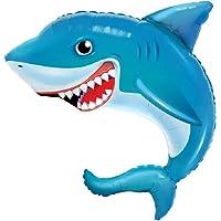 "Happy Blue Shark Jumbo 36"" Foil Party Balloon"