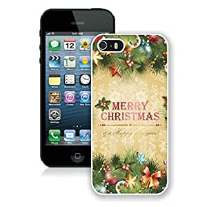 Design for Mass Customization Iphone 5S Protective Case Merry Christmas iPhone 5 5S TPU Case 7 White