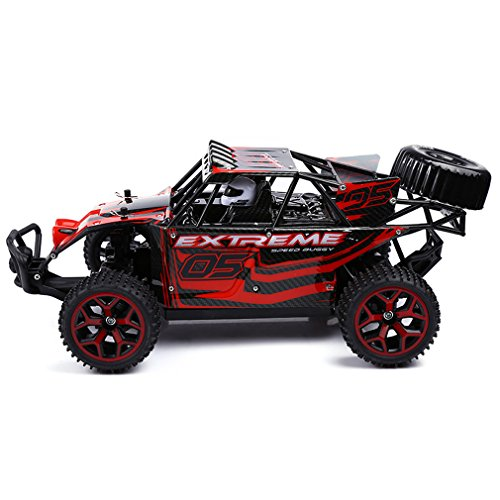 Zhencheng High Speed 1/18 Scale 4 WD RC Truck Off-Road Racing Car RTR Toy SUV Vehicle,Red