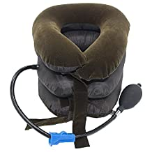 Z-COMFORT Portable cervical neck traction cushion relieves neck & shoulder tension - 1 pack/brown, 0.20 Pound