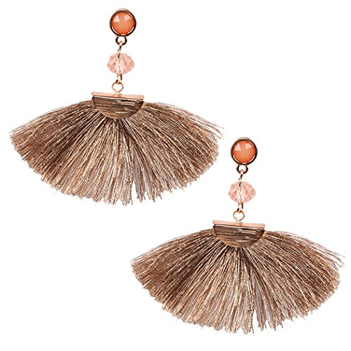Rose Pink Special Occasion Earrings Amazoncom