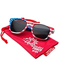 Kids American USA Flag Sunglasses for Boys and Girls Ages...