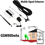 QIHONG 900Mhz GSM 2G/3G/4G Signal Amplifier Antenna,Mobile Signal Booster Repeater,Support 200 Square Meters,for All Cell Phone Mobile Huawei/Apple/Sumsang