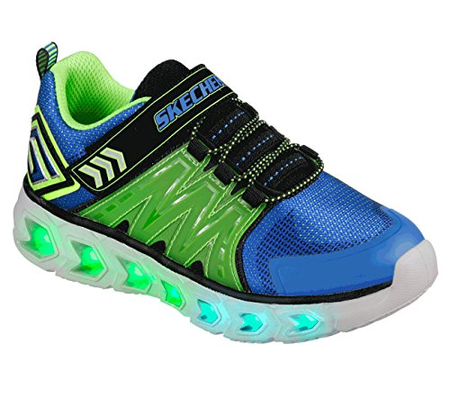 Skechers Kids Kids' Hypno-Flash 2.0 Sneaker,blue/lime,12 Medium US Little Kid