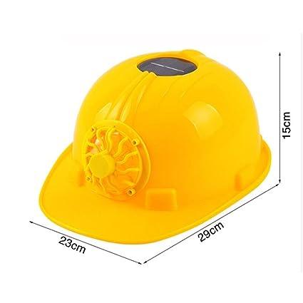 ANHPI Sombrero Duro con Ventilador Ligero Visera Transpirable Saneamiento Trabajador Casquillo Protector Trabajador De La Construcción