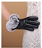 Generic new_ winter _days_Korean_ leather _full_touch_screen_ glove gloves women girls _Outdoor_Cycling_warm_plus_velvet_ glove