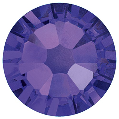 Flat Back Crystal Purple Velvet (Swarovski 2028 Foiled Flatbacks SS7 Purple Velvet 10 gross (1440) No Hotfix Rhinestones Factory Pack)