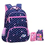 Best Barbie Book Bags - Girls Backpacks for Elementary, Polk Dots School Bag Review