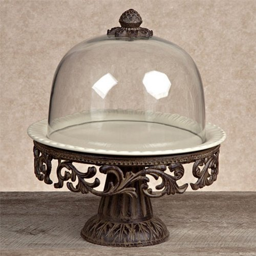 Cake Pedestal With Glass Dome Cake Stand