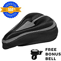 Padded Bike Seat Cushion Cover: Comfortable, Durable Gel...