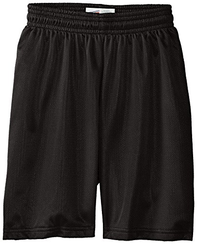 Soffe Big Boys' Nylon Mini Mesh Fitness Short, Black, Medium (Soffe Mesh)