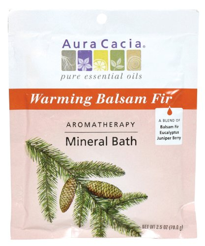 Aura Cacia Aromatherapy Mineral Bath, Warming Balsam Fir, 2.5 ounce packet (Pack of - 2.5 Ounce Bath