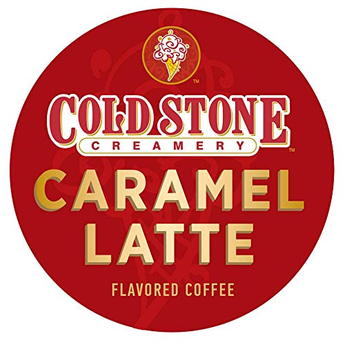 Cold Stone Creamery Single Serve Coffee in Recyclable Cups for all K Cup Brewers, including the Keurig 2.0 Brewer (Caramel Latte, 24)