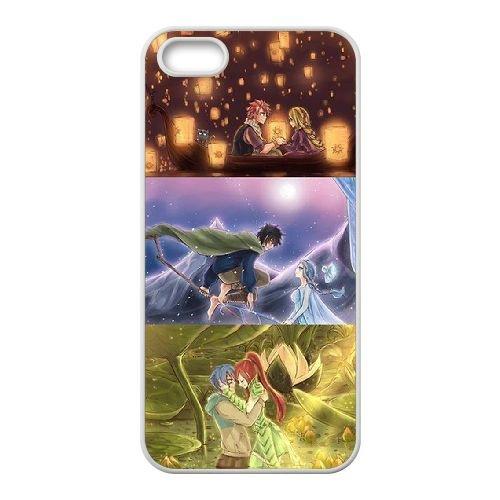 Fairy Tail 010 coque iPhone 5 5S Housse Blanc téléphone portable couverture de cas coque EOKXLLNCD14796