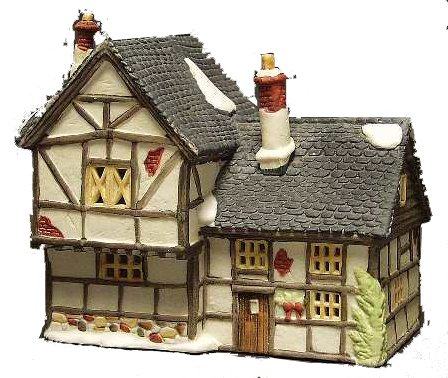 (Department 56 Dickens Village Tudor Cottage - Retired - Dated 1985)