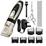 Pet Grooming Clippers, OMorc 6 Comb Guides Cordless Rechargeable Pet Hair Shaver Low Noise Pet Grooming Trimmer Kit with Scissors and Cleaning Brush for Pet Dogs and Cats