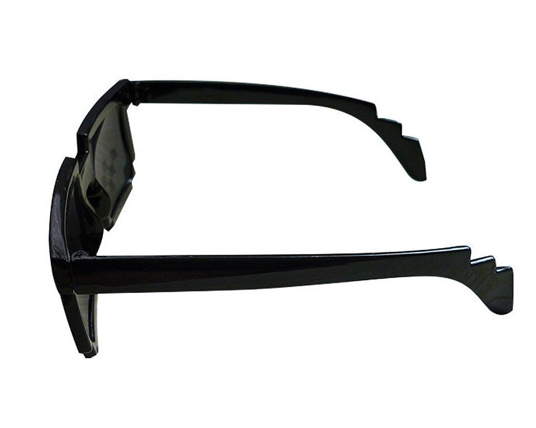 Shopready Lunettes de soleil drôles Cool Eyewear 8 Bit Pixels Lunettes de soleil Party Favors - Noir K7fME5