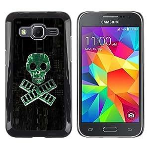 LECELL--Funda protectora / Cubierta / Piel For Samsung Galaxy Core Prime -- PC RAM pirata - Geek Tech --