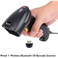 Barcode Scanner Eyoyo 2016 2 IN 1 Wired Bluetooth 1D Barcode Reader for iPhone iPad Android Tablet PC