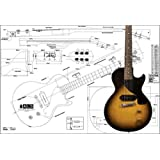 Plan of Gibson Les Paul Junior Electric Guitar - Full Scale Print