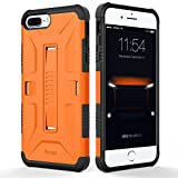 Image of iPhone 7 Plus Case, Yesgo Military Heavy Duty Hybrid Rugged Protective Case for Apple iPhone 7 Plus Non-slip Grip, Orange