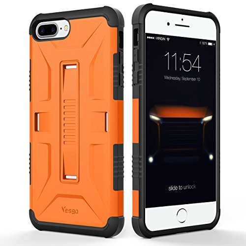 iPhone 7 Case, Yesgo Military Heavy Duty Hybrid Rugged Protective Case for Apple iPhone 7 Non-slip Grip, Orange