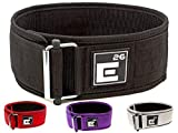 Self-Locking Weight Lifting Belt | Premium Weightlifting Belt for Serious Crossfit, Power Lifting, and Olympic Lifting Athletes (26'' - 30'', Around Navel, Small, Black)