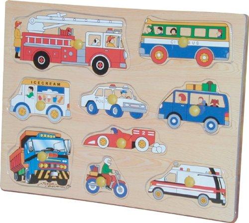 Puzzled Peg Wood Puzzle Vehicles