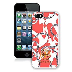 Unique And Luxurious Custom Designed Cover Case For iPhone 5S With Tory Burch 18 White Phone Case
