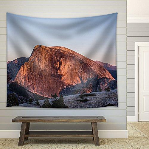 Mountain Landscape Half Dome in Yosemite National Park California Usa Fabric Wall