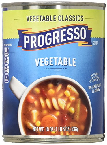 - Progresso Soup, Vegetable Classics, Vegetable Soup, 19 oz Can