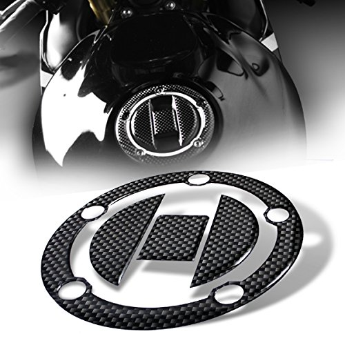 3D Gas Tank Fuel Cap Cover Protector Pad for Suzuki GSXR-600/750/1000 (Carbon Fiber Look)