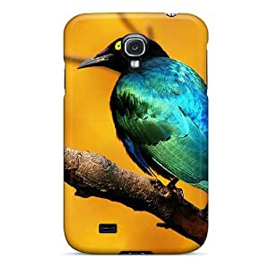 Tpu AMGake Shockproof Scratcheproof Blue Bird Hard Case Cover For Galaxy S4