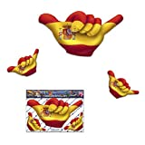Small SPANISH FLAG HANG LOOSE Funny Car