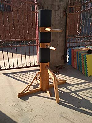 Amazoncom Wing Chun Wooden Dummy Target With Tripod Wooden Base