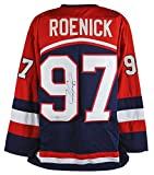 Blackhawks Jeremy Roenick Authentic Signed Team USA Blue Jersey Autographed BAS