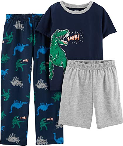 Carter's Boys' 3-Piece Polyester Jersey Pajama Sets (Navy/Dinosaur, 6) (Carters 3 Piece Boys)
