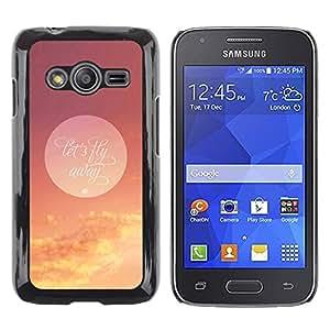 TopCaseStore / la caja del caucho duro de la cubierta de protección de la piel - Let'S Fly Away Moon - Samsung Galaxy Ace 4 G313 SM-G313F