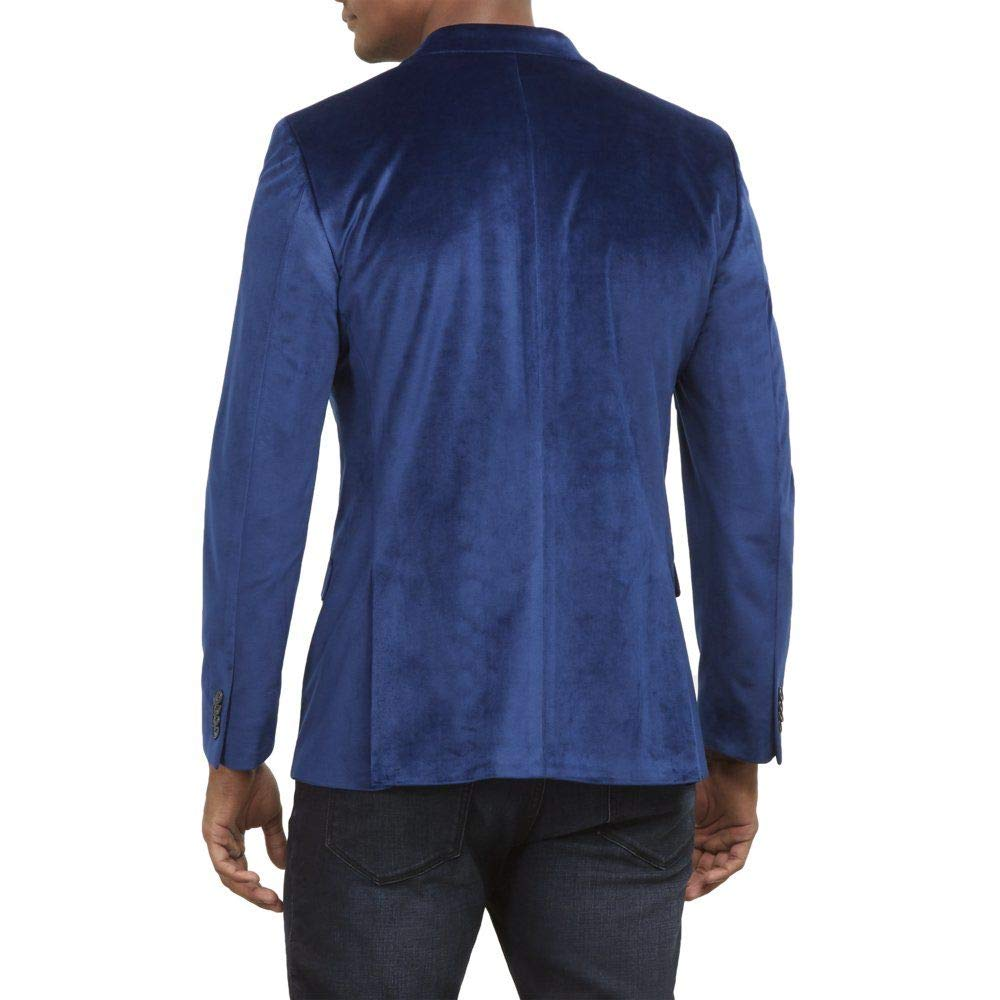 Kenneth Cole REACTION Mens Velvet Slim Fit Evening Blazer