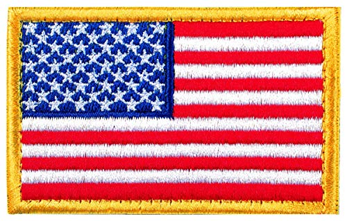 - Tactical Patches of USA US American Flag, with Hook and Loop for Backpacks Caps Hats Jackets Pants, Military Army Uniform Emblems, Size 3x2 Inches