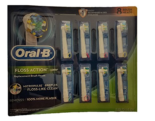 Oral B 324941 Brush Heads 8 - Brush Replacement Flossaction