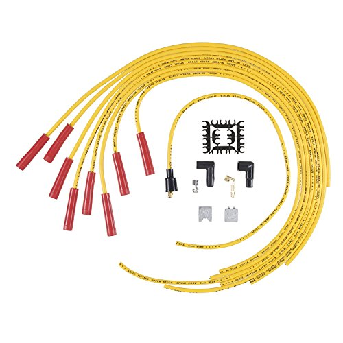 ACCEL 5040Y 8mm Super Stock Spiral Universal Wire Set - Yellow (Spiral Stock Super)