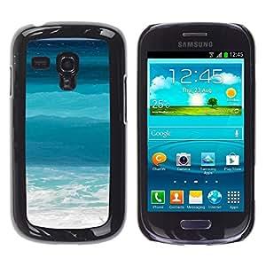 TopCaseStore / la caja del caucho duro de la cubierta de protección de la piel - Ocean Sea Surf Summer Waves Tropical - Samsung Galaxy S3 MINI NOT REGULAR! I8190 I8190N