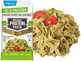 Proteína maxsport Nutrition 42% Organic bio sin gluten High Fibre proteína Pasta 10 Pack – 10 x 200 g