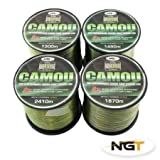 Carp & Coarse Fishing Line Camo Colour available in 8lb 10lb 12lb 15lb Breaking Strain (12lb)