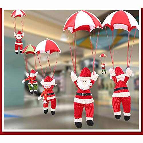 Hot Sale!DEESEE(TM)4PC Santa Claus Snowman In Parachute Christmas Tree Hanging Ornament Decoration (Red)